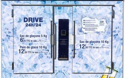 Nouveau en Gard rhodanien, les distributeurs automatiques de sac de glaçons !