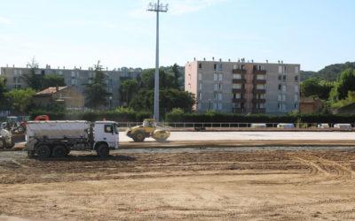 Travaux au stade Léo-Lagrange de Bagnols-sur-Cèze : C'est parti !