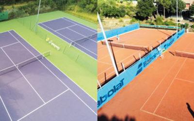 Le Tennis club des Roquettes à Bagnols sur Cèze