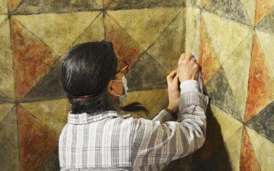 Diagnostic et restauration du décor peint médiéval de la Maison des chevaliers. Musée fermé, mais pas sans activité !