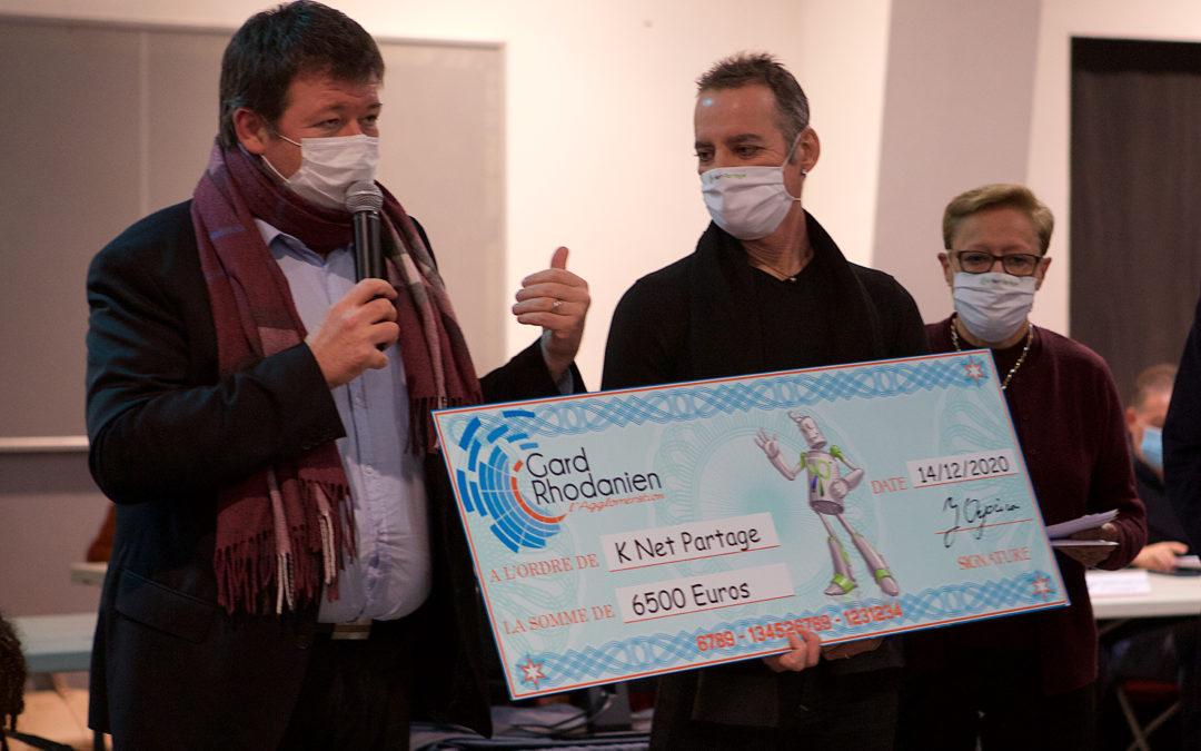 Un chèque et des projets locaux pour Knet Partage