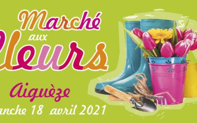 Marché aux Fleurs d'Aiguèze le dimanche 18 avril