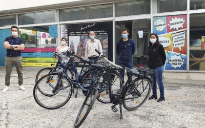 5 vélos à assistance électrique à disposition du personnel communal !