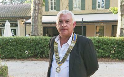 Interview avec Rémy BARROT, nouveau président du ROTARY CLUB de Bagnols-sur-cèze / Pont-Saint-Esprit