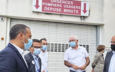 Pierre Ricordeau, directeur ARS Occitanie, visite le Centre Hospitalier de Bagnols-sur-Cèze